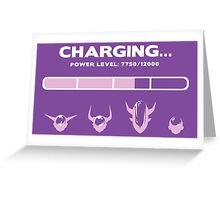 CHARGING FRIEZA Greeting Card