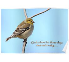 God is here for those days that end in why . . . Poster