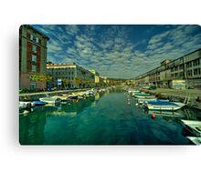 Rijeka old dock  Canvas Print