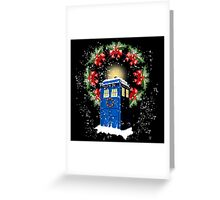 A WARM & COMFORTABLE TARDIS IN THGE SNOWSTORM  Greeting Card