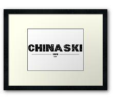 HENRY CHINASKI Framed Print
