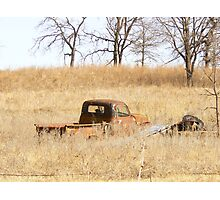 hollowed out in a prairie Photographic Print