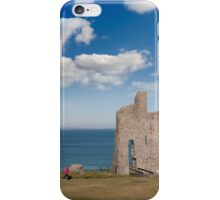 path with tourist walking to Ballybunion beach and castle iPhone Case/Skin