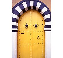 Arabic Door in Tunisia Photographic Print