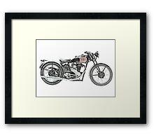 1938 EXCELSIOR WARRIOR Motorcycle Framed Print