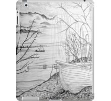 The Danube and A Boat a pencil drawing iPad Case/Skin