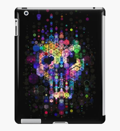 Monstrously colorful elementary particles iPad Case/Skin