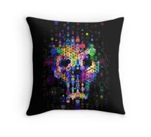 Monstrously colorful elementary particles Throw Pillow