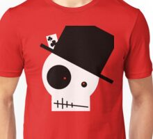 Skull And Top Hat Unisex T-Shirt