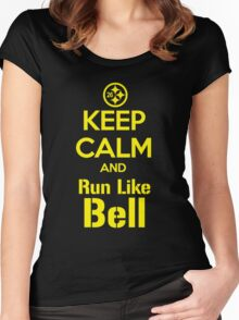 Keep Calm and Run Like Bell .1 Women's Fitted Scoop T-Shirt
