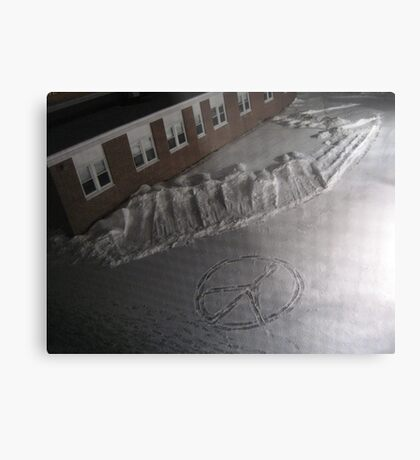Peaceful Footsteps Metal Print