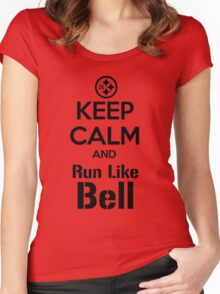 Keep Calm and Run Like Bell .2 Women's Fitted Scoop T-Shirt