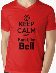 Keep Calm and Run Like Bell .2 Mens V-Neck T-Shirt