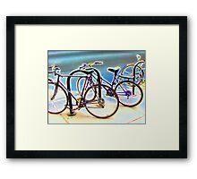 bikes at rest Framed Print