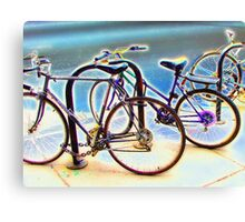 bikes at rest Canvas Print