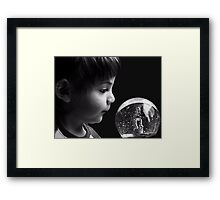 How did that Horsy get in there? Framed Print