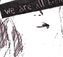 We are all broken Sticker
