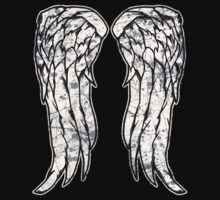 Daryl Dixon Angel Wings - The Walking Dead (dirty) by createdezign