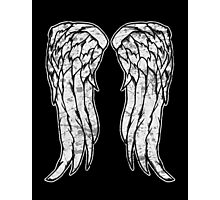 Daryl Dixon Angel Wings - The Walking Dead (dirty) Photographic Print
