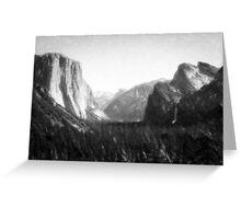 Yosemite National Park--mixed media painting Greeting Card