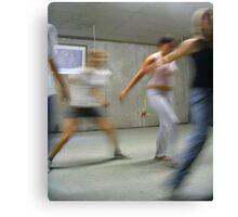 DANCE PRACTISE BASEMENT  Canvas Print