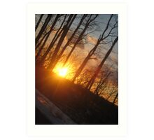 sunset in salem Art Print