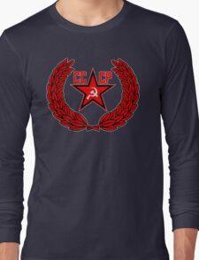 Russian Soviet Red CCCP Long Sleeve T-Shirt