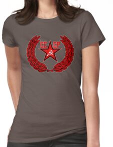 Russian Soviet Red CCCP Womens Fitted T-Shirt