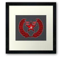Russian Soviet Red CCCP Framed Print