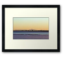 water and ice Framed Print