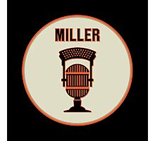SF Giants HOF Announcer Jon Miller Pin Photographic Print