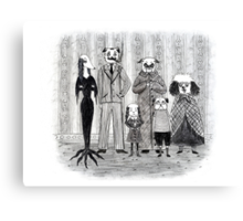 Addams Family Dogs Canvas Print