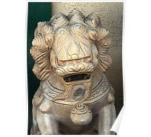 Chinese Statue Poster