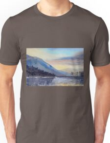 """Evening Falls on Lake Windermere"" Unisex T-Shirt"