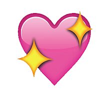 Sparkle heart emoji Photographic Print