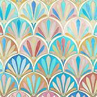 Vintage Twenties Art Deco Pastel Pattern by micklyn