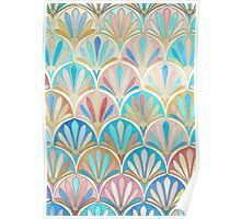 Vintage Twenties Art Deco Pastel Pattern Poster