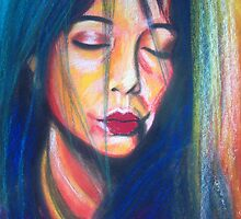 Self Portrait - soft pastels by Lee Wilde
