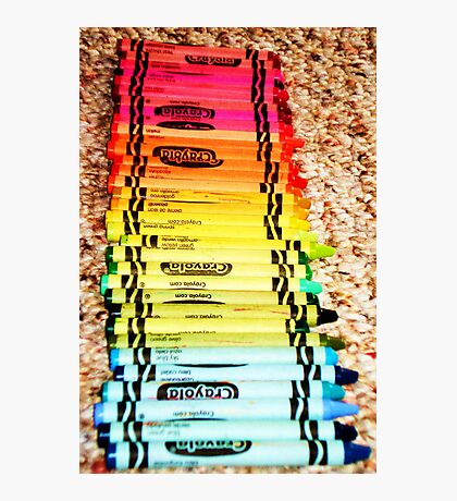 Crayons, a Childs Rainbow Photographic Print
