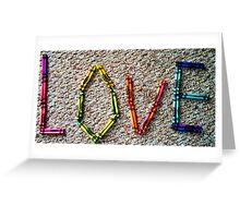 Crayons, a Childs Rainbow Greeting Card