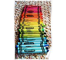 Crayons, a Childs Rainbow Poster