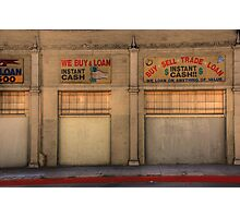 Instant Cash Photographic Print