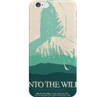 Into the Wild minimalist movie poster iPhone Case/Skin