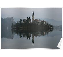 Bled Island in Slovenia Poster