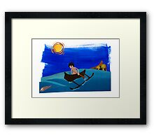 The Lone Fisherman From Fiti Framed Print