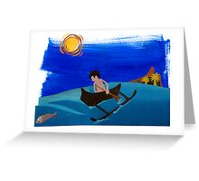 The Lone Fisherman From Fiti Greeting Card