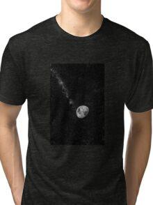 Space Moon Glow Tri-blend T-Shirt