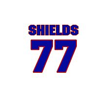 National football player Lebron Shields jersey 77 Photographic Print