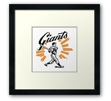 San Francisco Giants Schedule Art from 1958 Framed Print