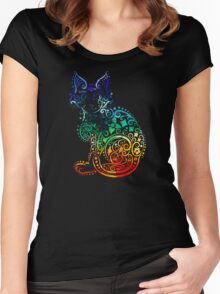 Inked Cat Women's Fitted Scoop T-Shirt
